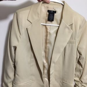 Light Cream colored Blazer with bunched sleeves